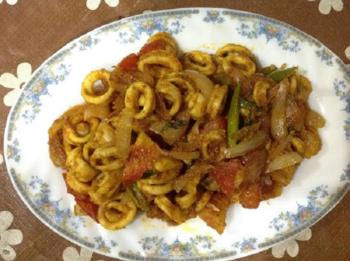 Calamari Fish Fry Recipe- Squid Roast In Kerala Style - Plattershare - Recipes, Food Stories And Food Enthusiasts