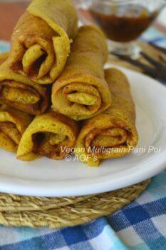 Vegan Multi-Grain Pani Pol ( My Twist To The Sri Lankan Crepes ) - Plattershare - Recipes, Food Stories And Food Enthusiasts