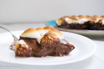 Smores Chocolate Pie With Gingersnaps Cookie Crust - Plattershare - Recipes, Food Stories And Food Enthusiasts