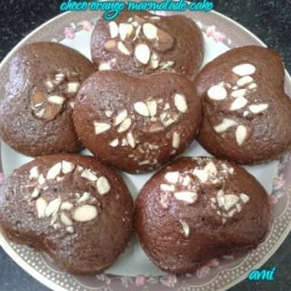 Eggless Choco Orange Marmalade Muffins - Plattershare - Recipes, Food Stories And Food Enthusiasts
