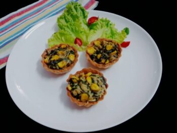Spinach Corn Maggi Tarts - Plattershare - Recipes, Food Stories And Food Enthusiasts