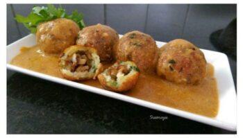 Stuffed Mushroom Kofta In Tomato Gravy - Plattershare - Recipes, Food Stories And Food Enthusiasts