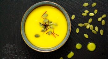 Saffron And Roasted Pumpkin Soup - Plattershare - Recipes, Food Stories And Food Enthusiasts