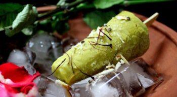 Indian Icecream - Thandai Kesar Pista Badam Kulfi - Plattershare - Recipes, Food Stories And Food Enthusiasts