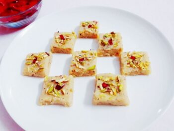 Coconut Barfi With Condensed Milk - Plattershare - Recipes, Food Stories And Food Enthusiasts