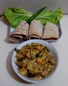 Dhaba Style Roti Sabji - Plattershare - Recipes, Food Stories And Food Enthusiasts