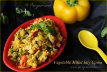 Vegetable Millet Idly Upma - Plattershare - Recipes, Food Stories And Food Enthusiasts
