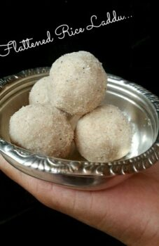 Flattened Rice Ladoos - Plattershare - Recipes, Food Stories And Food Enthusiasts