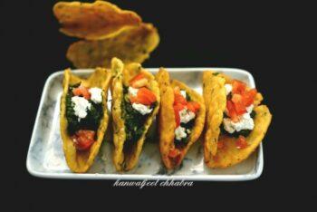 Makke Ki Roti And Sarso Ka Sag Tacos - Plattershare - Recipes, Food Stories And Food Enthusiasts