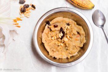 Bananas And Semolina Sheera (Banana Sooji Halwa) - Plattershare - Recipes, Food Stories And Food Enthusiasts
