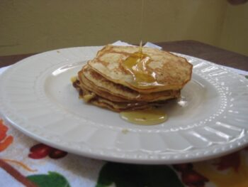 Honey Glazed Oats Pancake - Plattershare - Recipes, Food Stories And Food Enthusiasts