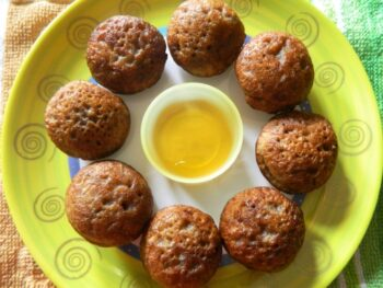 Fruit And Nut Honey Paniyarams - Plattershare - Recipes, Food Stories And Food Enthusiasts