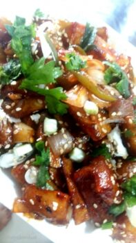 Honey Chili Potatoes (Baked Or Fried) Indo Chinese Starter - Plattershare - Recipes, Food Stories And Food Enthusiasts
