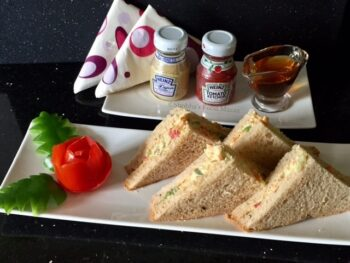 Honey And Hung Curd Vegetable Sandwiches - Plattershare - Recipes, Food Stories And Food Enthusiasts