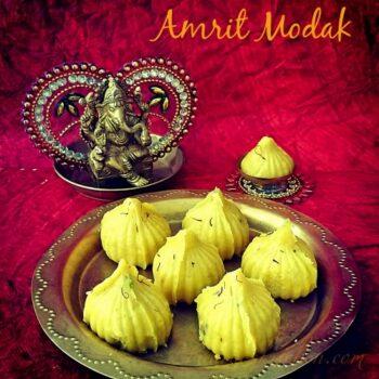 Kesar Mawa Modak / Amrit Modak Â???? Ganesh Chaturthi Special - Plattershare - Recipes, Food Stories And Food Enthusiasts