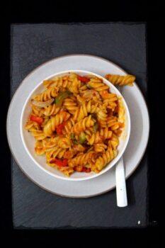 Fusilli Pasta With Homemade Marinara Sauce Recipe - Plattershare - Recipes, Food Stories And Food Enthusiasts