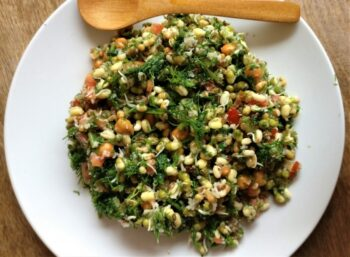Dill Leaves Breakfast Salad - Plattershare - Recipes, Food Stories And Food Enthusiasts