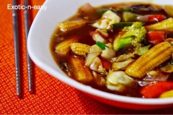 Assorted Vegetables In Chilly Garlic Sauce - Plattershare - Recipes, Food Stories And Food Enthusiasts