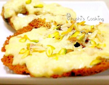 Rabdi Ghevar - Plattershare - Recipes, Food Stories And Food Enthusiasts