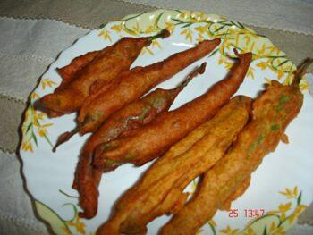 Stuffed Mirchi Bajji / Stuffed Chilli Pakoda - Plattershare - Recipes, Food Stories And Food Enthusiasts