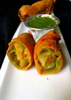 Rajasthani Mirchi Bada/ Stuffed Chilli Fritters - Plattershare - Recipes, Food Stories And Food Enthusiasts