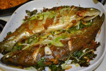 Spicy Lemon Steamed Fish Cantonese Style - Plattershare - Recipes, Food Stories And Food Enthusiasts