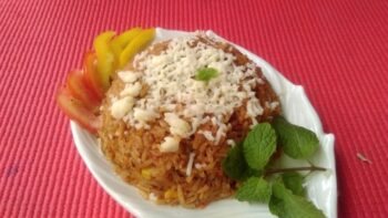 Cheesy Rice - Plattershare - Recipes, Food Stories And Food Enthusiasts