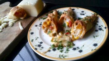 Corn And Cheese Cones (A Puff Pastry Recipe) - Plattershare - Recipes, Food Stories And Food Enthusiasts