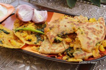 Aloo Palak Parantha (Jodhpuri Parantha) - Plattershare - Recipes, Food Stories And Food Enthusiasts