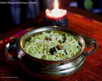 Garlic Flavoured Kurmura Chivda - Plattershare - Recipes, Food Stories And Food Enthusiasts