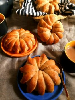 Coffee Caramel Coconut Flower Buns - Plattershare - Recipes, Food Stories And Food Enthusiasts
