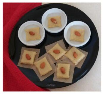 Badam &Amp; Kaju Burfi - Plattershare - Recipes, Food Stories And Food Enthusiasts
