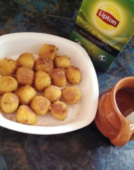 Tea Time With Cheese Balls - Plattershare - Recipes, Food Stories And Food Enthusiasts