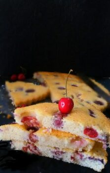 Fresh Cherry Cake - Plattershare - Recipes, Food Stories And Food Enthusiasts