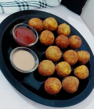 Corn Cheese Balls - Plattershare - Recipes, Food Stories And Food Enthusiasts