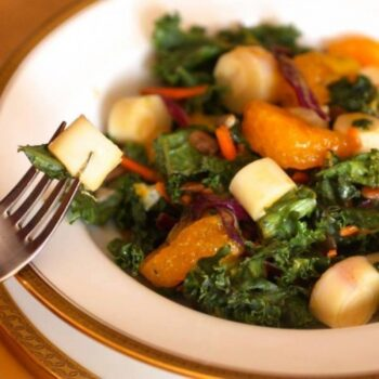 Kale Salad With Hearts Of Palm And Citrus Vinaigrette - Plattershare - Recipes, Food Stories And Food Enthusiasts