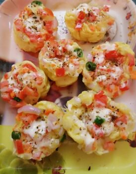 Microwave Omelette Muffins - Plattershare - Recipes, Food Stories And Food Enthusiasts