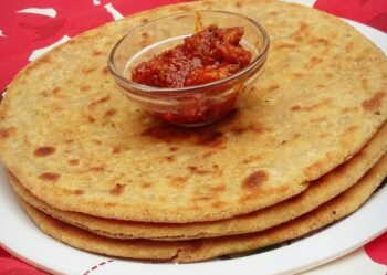 Stuffed Carrot And Moong Sprouts Paratha - Plattershare - Recipes, Food Stories And Food Enthusiasts
