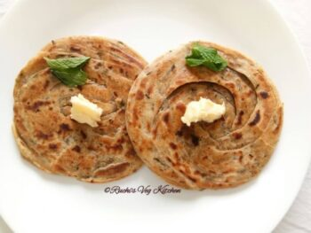 Mint Lachcha Paratha - Plattershare - Recipes, Food Stories And Food Enthusiasts