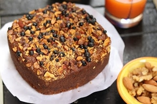 Eggless Whole Wheat Jaggery Fruit Cake - Plattershare - Recipes, Food Stories And Food Enthusiasts