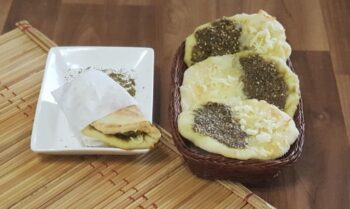Zaatar Cheese Manakeesh - Plattershare - Recipes, Food Stories And Food Enthusiasts