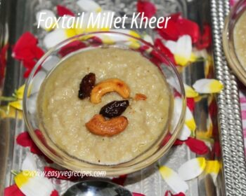 Foxtail Millet Kheer Recipe - Plattershare - Recipes, Food Stories And Food Enthusiasts