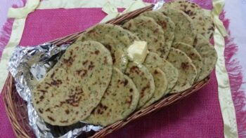 Tawa Whole Wheat Green Leafy Veggie Naans... - Plattershare - Recipes, Food Stories And Food Enthusiasts