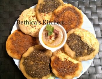 Manakish (Arabic Bread With Indian Flavour - Fusion Style) - Plattershare - Recipes, Food Stories And Food Enthusiasts