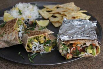 Burrito Boyz Style Veggie Burrito - Plattershare - Recipes, Food Stories And Food Enthusiasts
