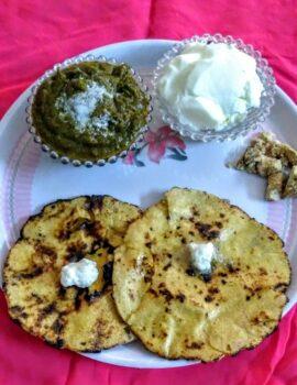Makki Ki Roti Sarso Ka Saag - Plattershare - Recipes, Food Stories And Food Enthusiasts