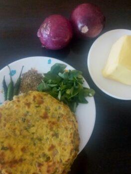 Methi Missi Roti - Plattershare - Recipes, Food Stories And Food Enthusiasts