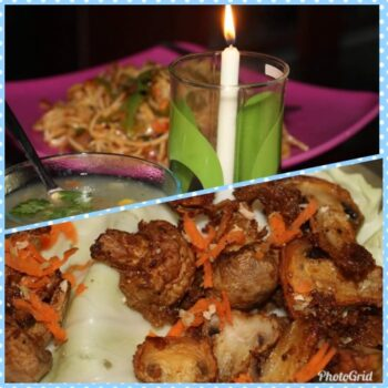 Resturant Style Spicy Mushroom Manchurian With Tangy Chowmin - Plattershare - Recipes, Food Stories And Food Enthusiasts