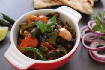 Bhindi Do Pyaaza - Plattershare - Recipes, Food Stories And Food Enthusiasts