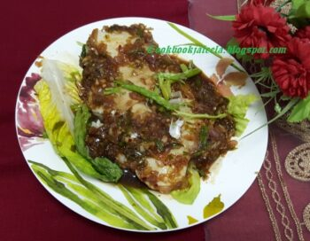 Restaurant Style Steamed Dori Fish With Jaggery And Red Chilli Sauce - Plattershare - Recipes, Food Stories And Food Enthusiasts